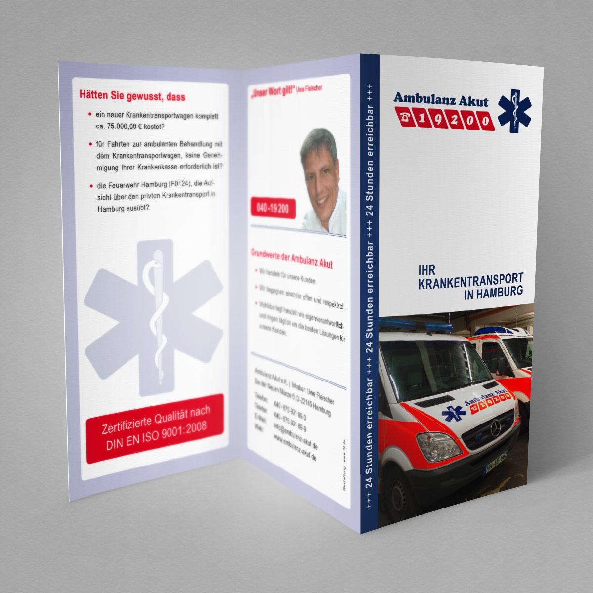 Ambulanz Akut Flyer, Hamburg