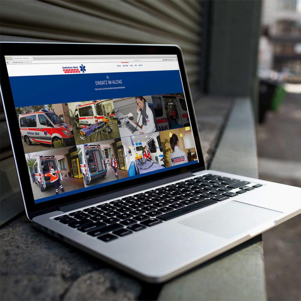 Ambulanz Akut Website, Hamburg