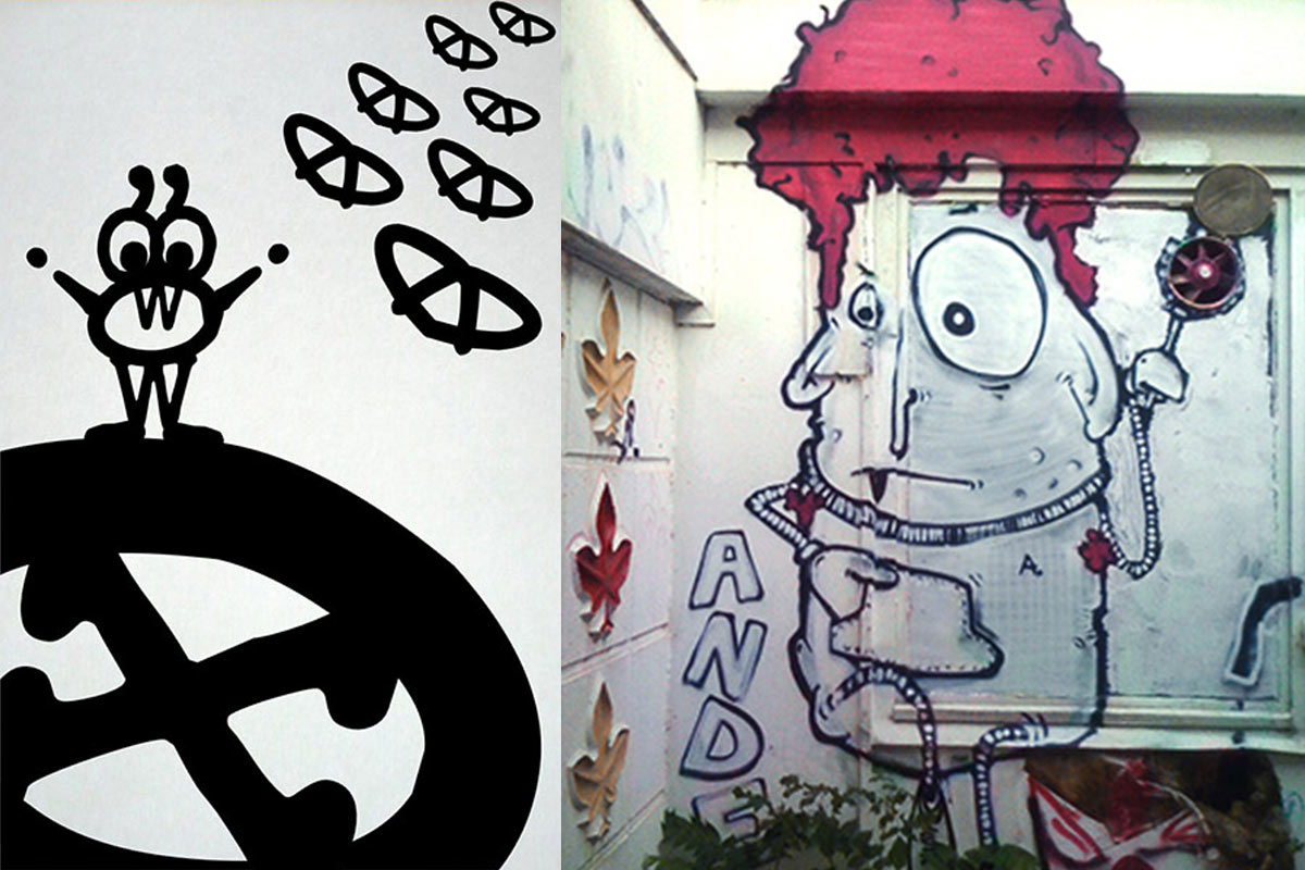 Typo- versus Streetart, Berlin