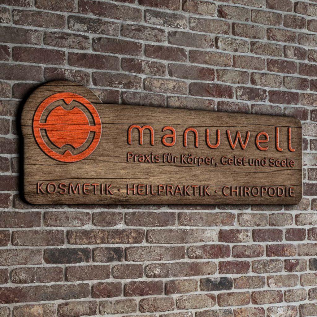 Firmenschild Wellness