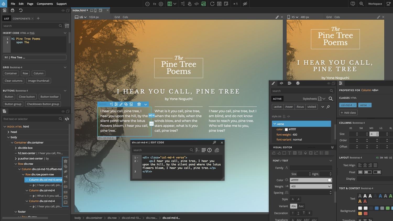 Pinegrow Webeditor